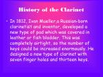 history of the clarinet8