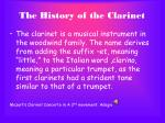 the history of the clarinet2