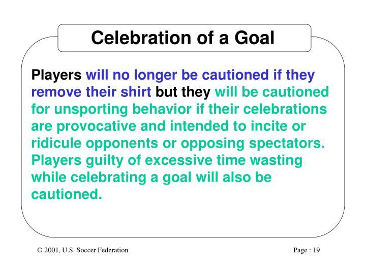 Celebration of a Goal