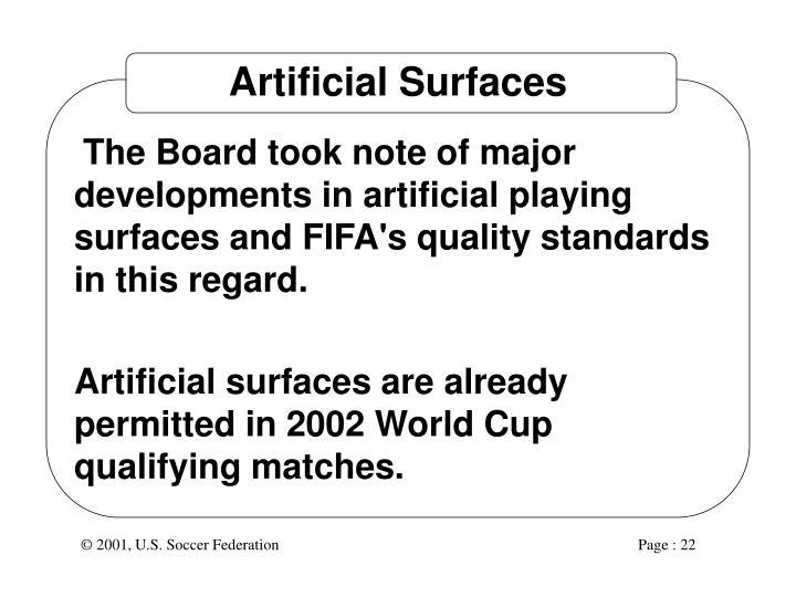 Artificial Surfaces