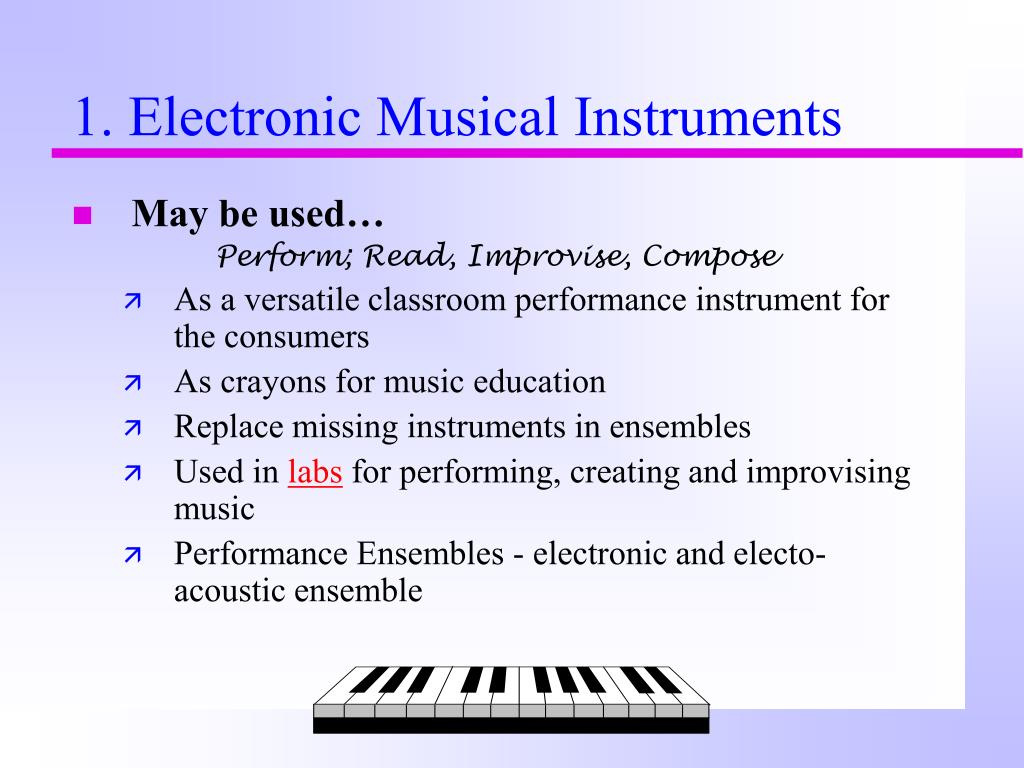 1. Electronic Musical Instruments
