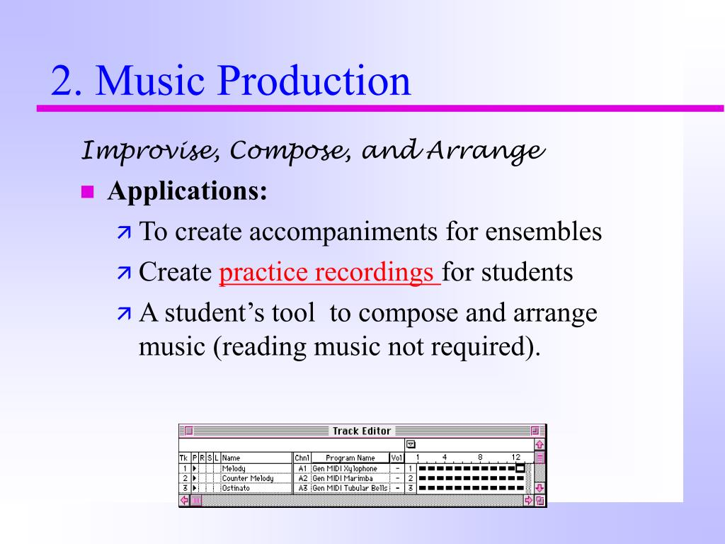 Improvise, Compose, and Arrange