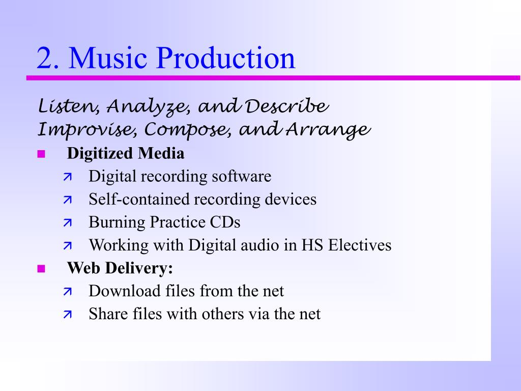 2. Music Production