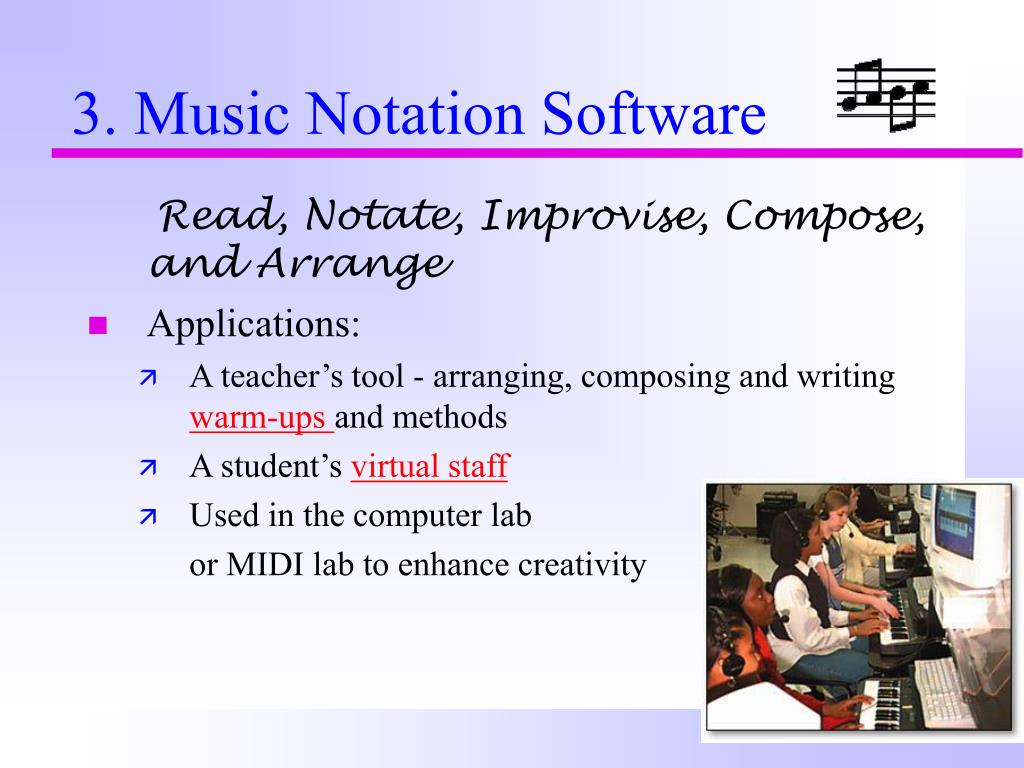 Read, Notate, Improvise, Compose, and Arrange