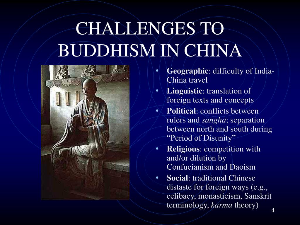 CHALLENGES TO BUDDHISM IN CHINA