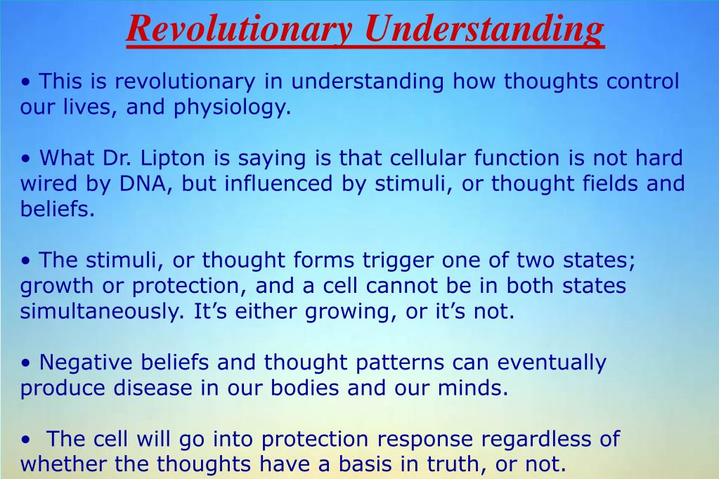 Revolutionary Understanding