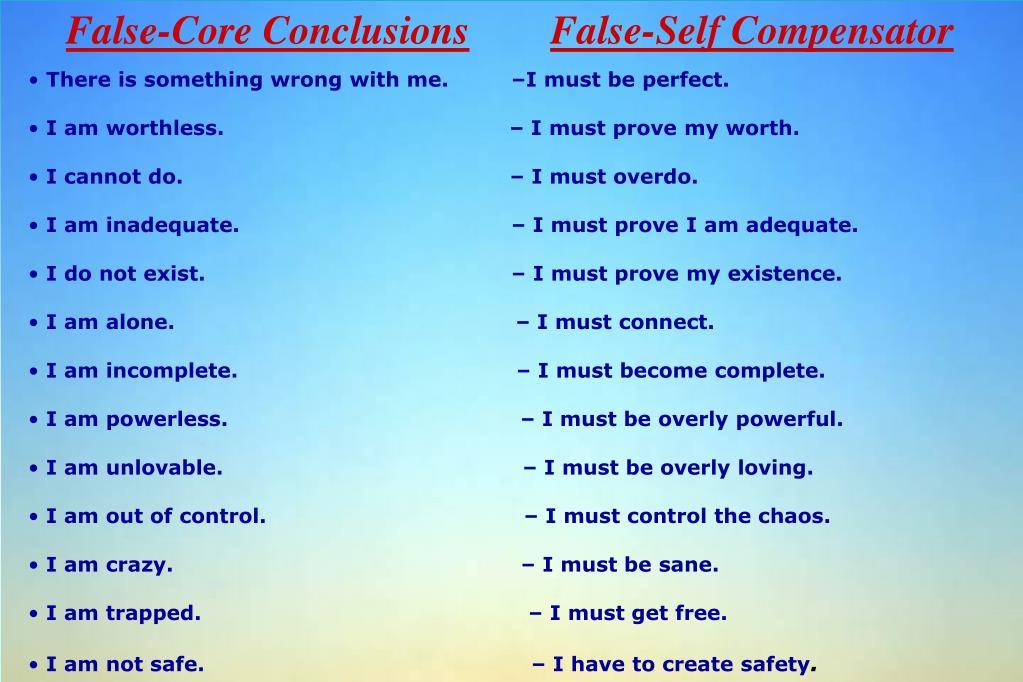 False-Core Conclusions