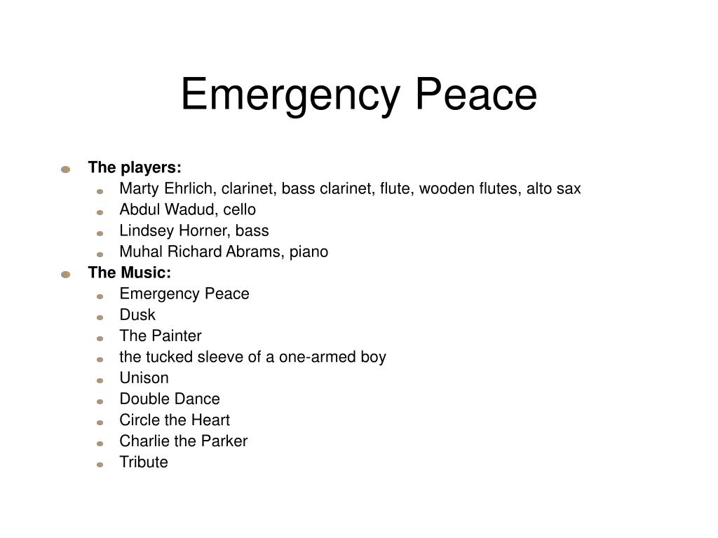 Emergency Peace