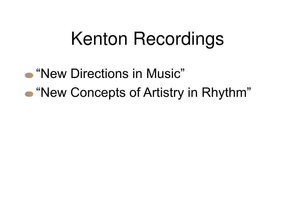 Kenton Recordings