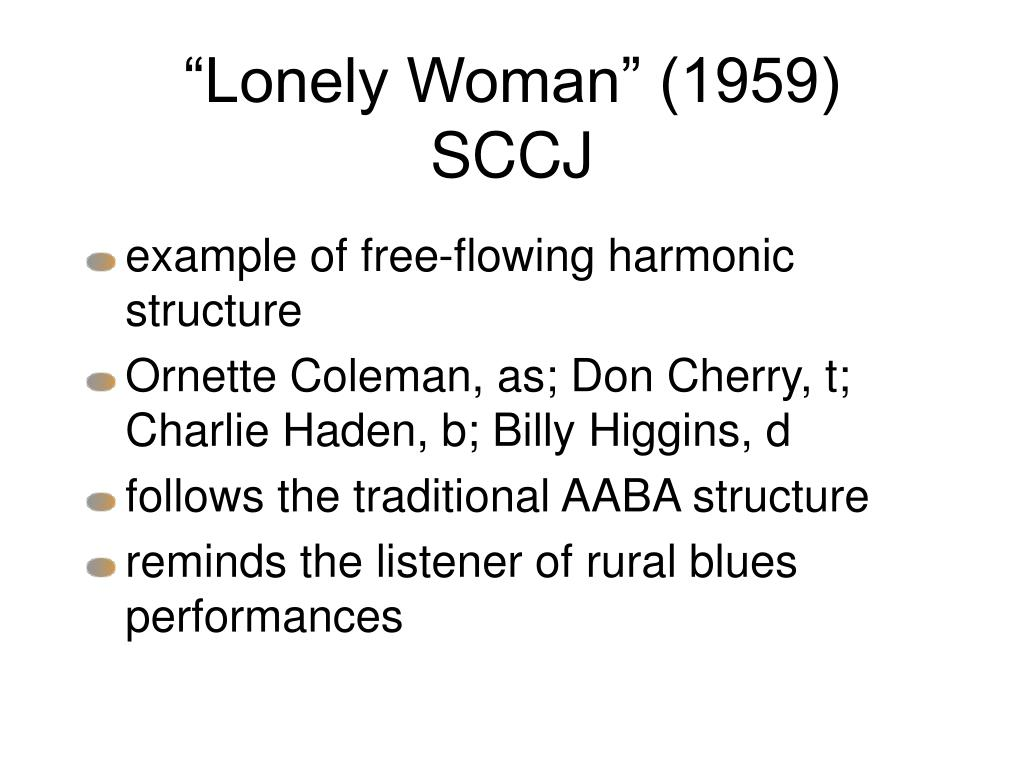 """Lonely Woman"" (1959)  SCCJ"