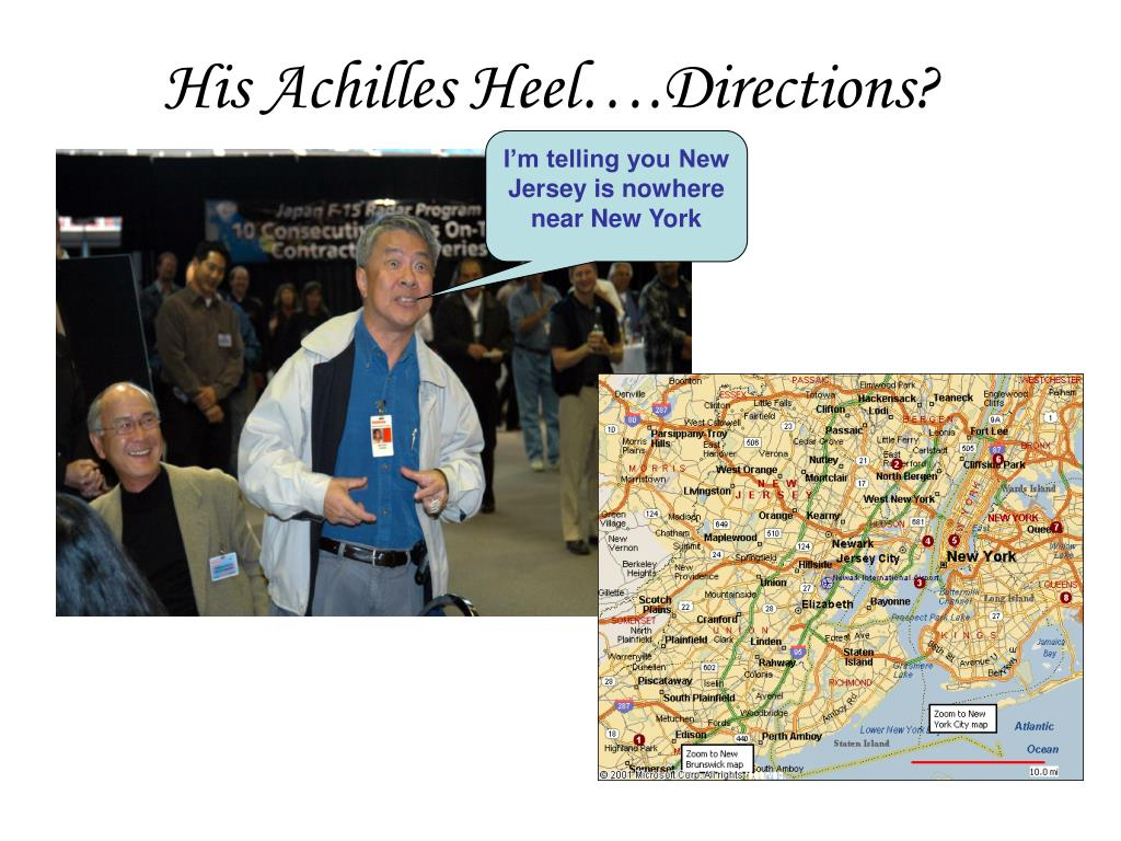 His Achilles Heel….Directions?