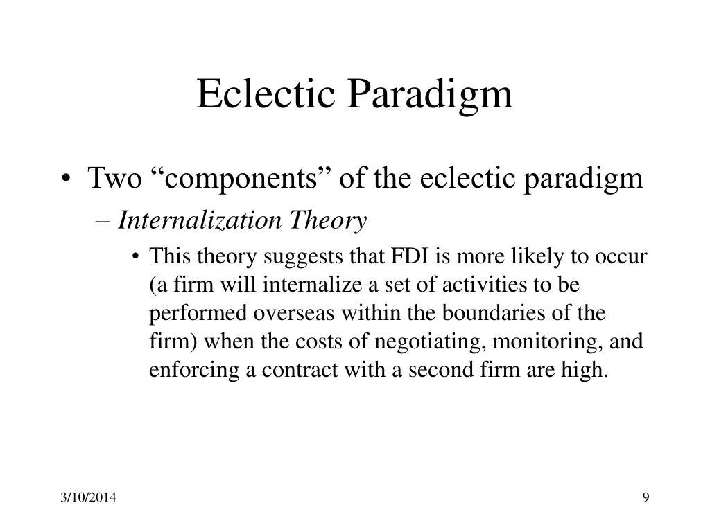 Eclectic Paradigm