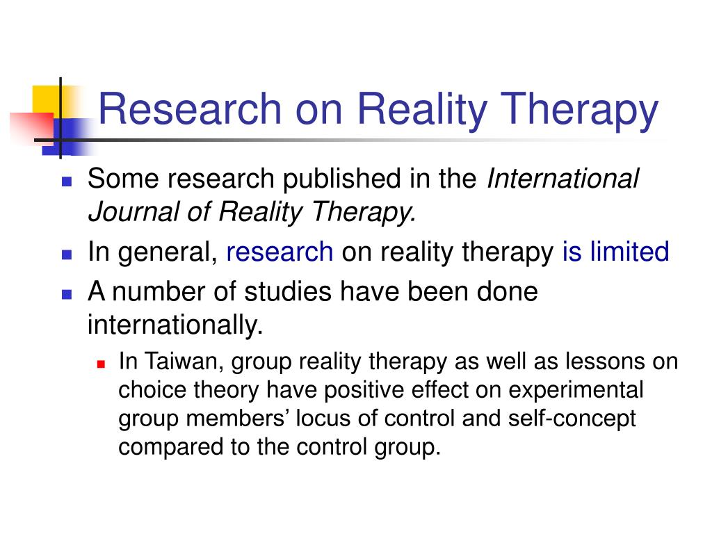 Research on Reality Therapy