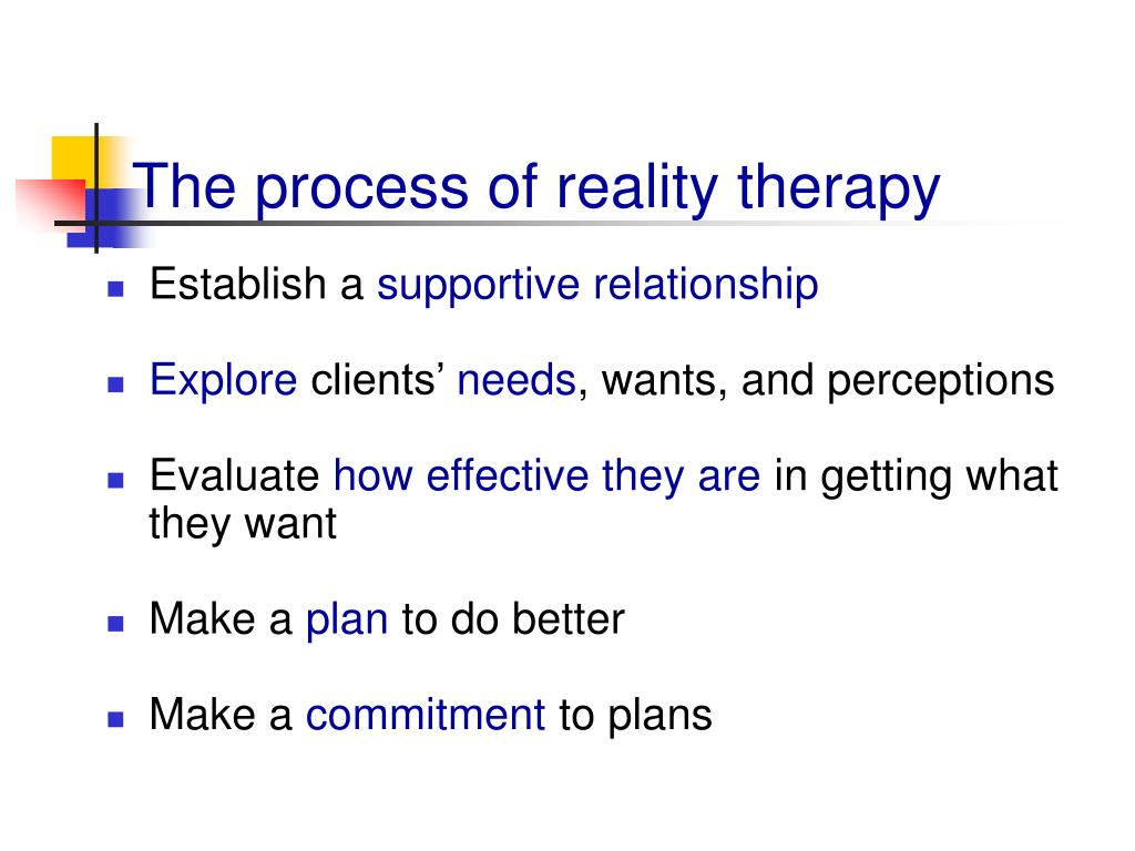 The process of reality therapy