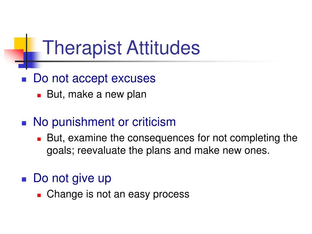 Therapist Attitudes