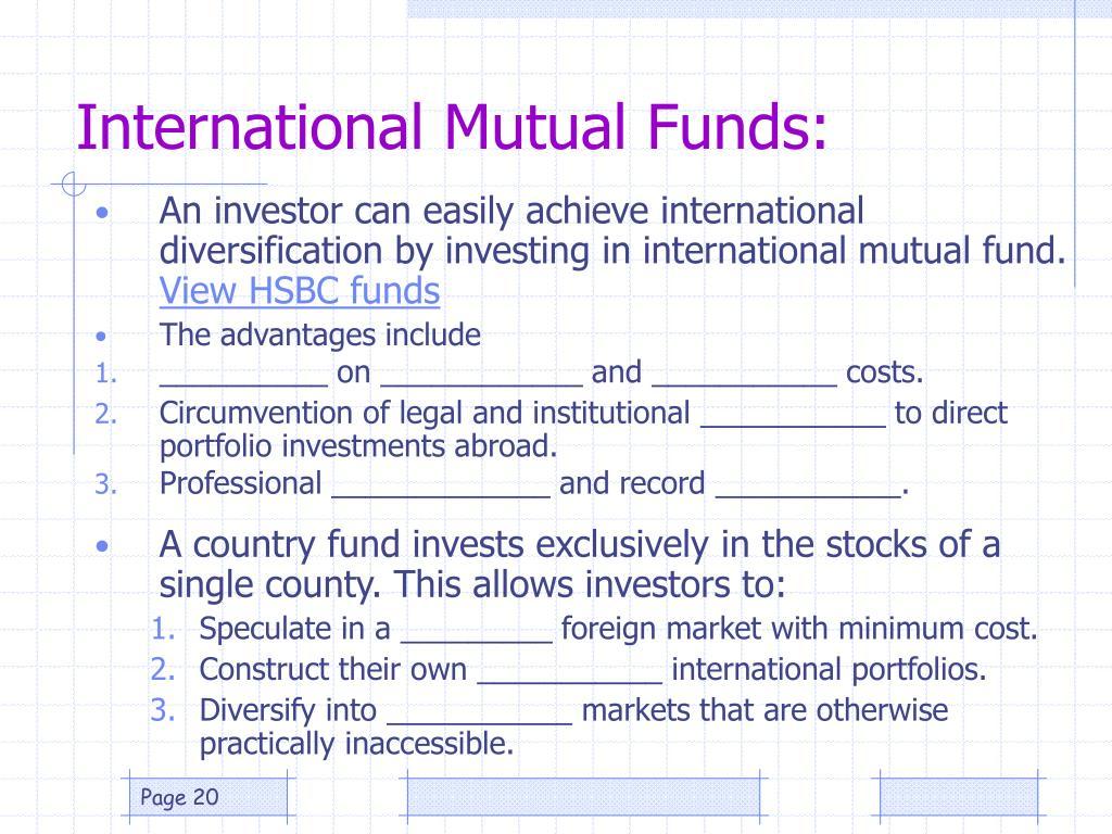 International Mutual Funds: