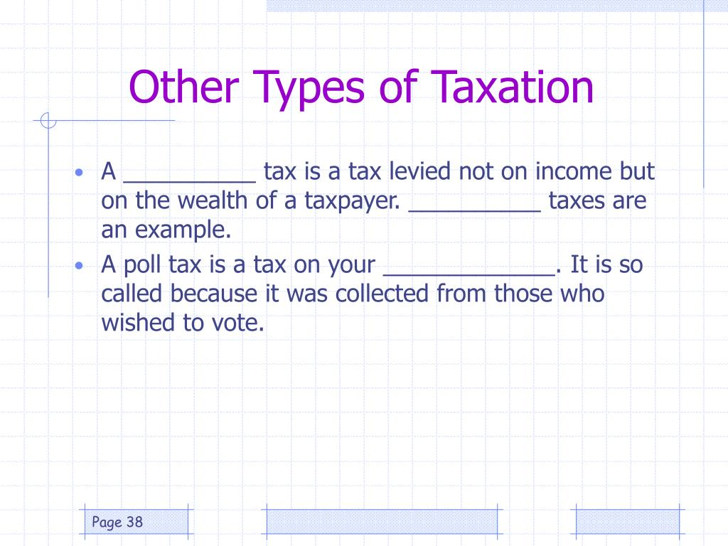 Other Types of Taxation
