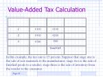 value added tax calculation