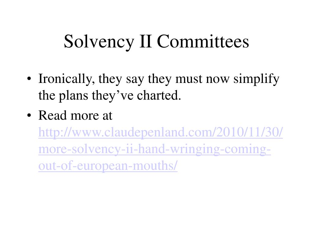 Solvency II Committees