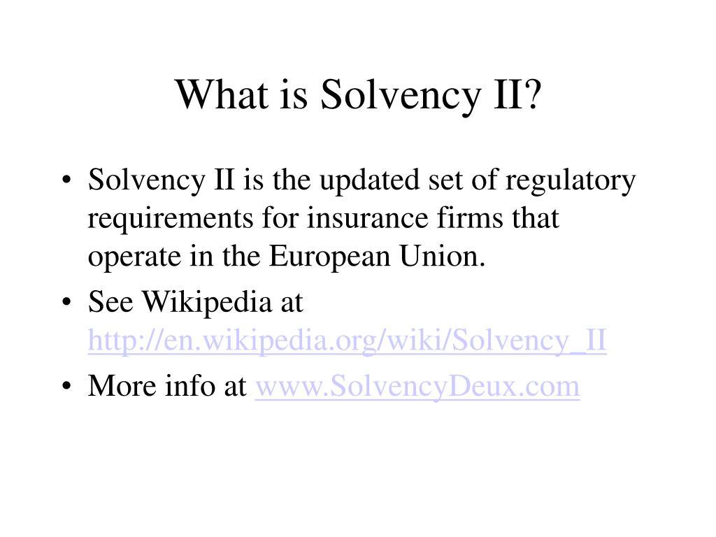 What is Solvency II?