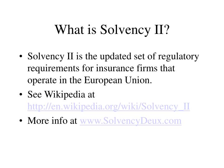 What is solvency ii