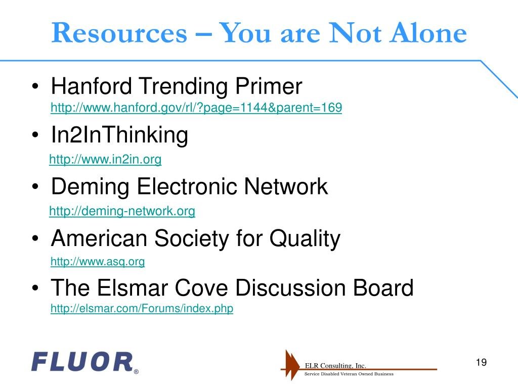 Resources – You are Not Alone