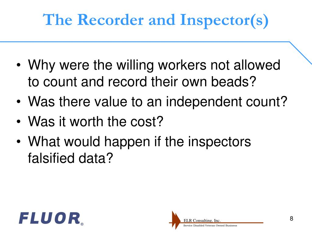 The Recorder and Inspector(s)
