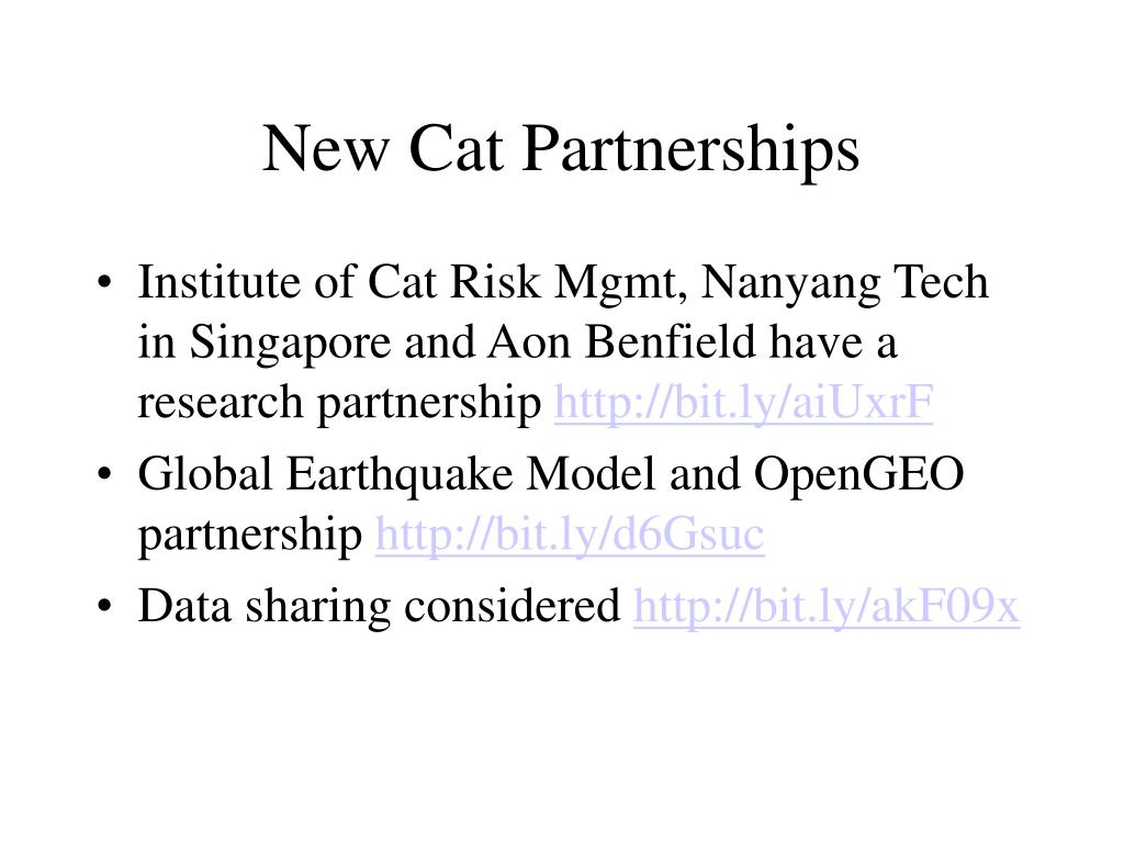 New Cat Partnerships