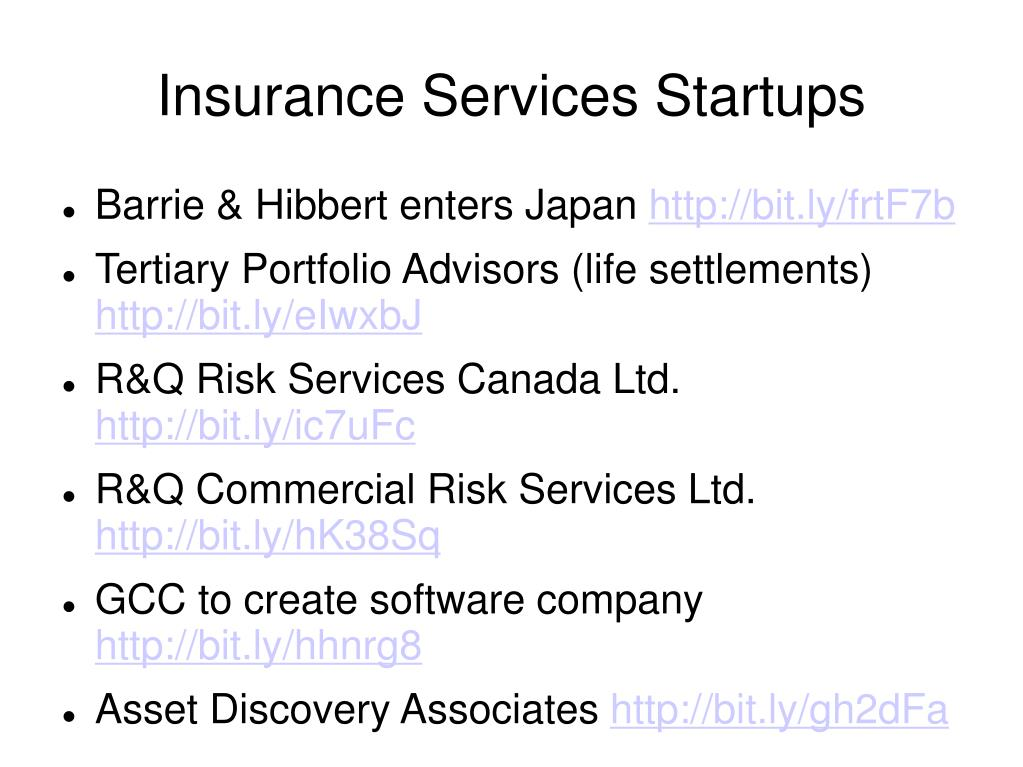 Insurance Services Startups