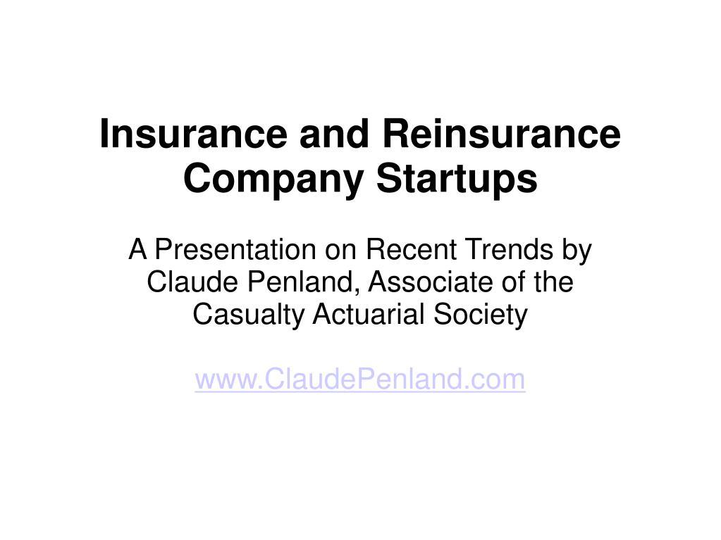 Insurance and Reinsurance