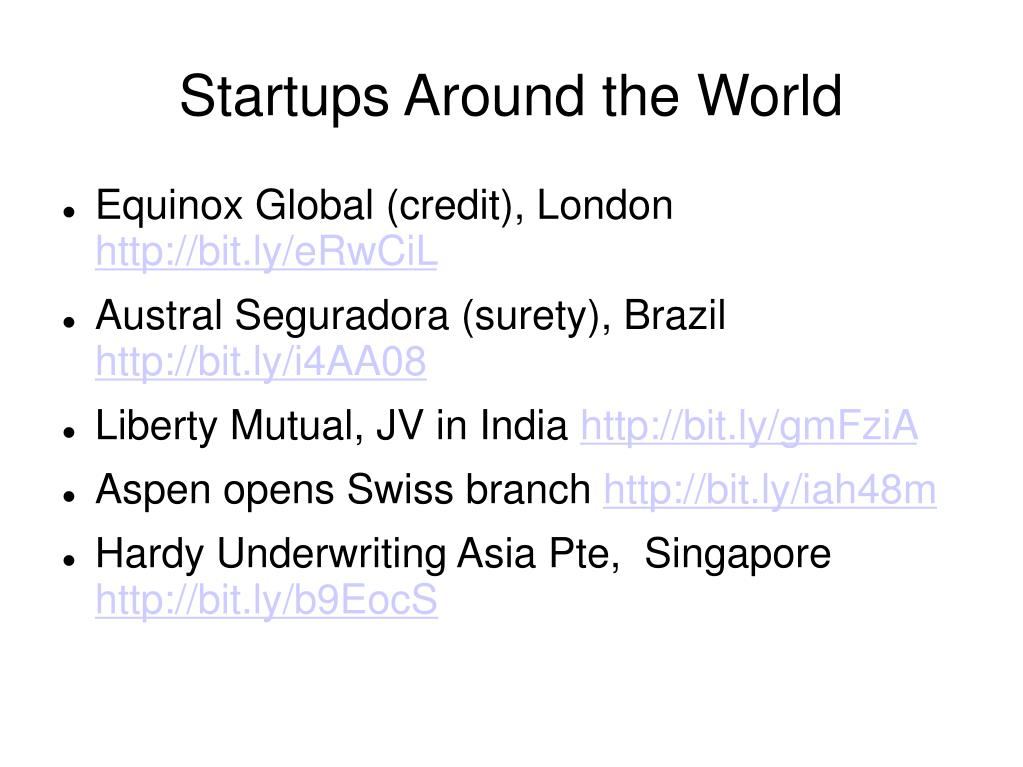 Startups Around the World