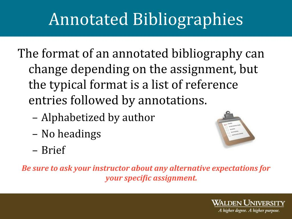 academic writing annotated bibliography