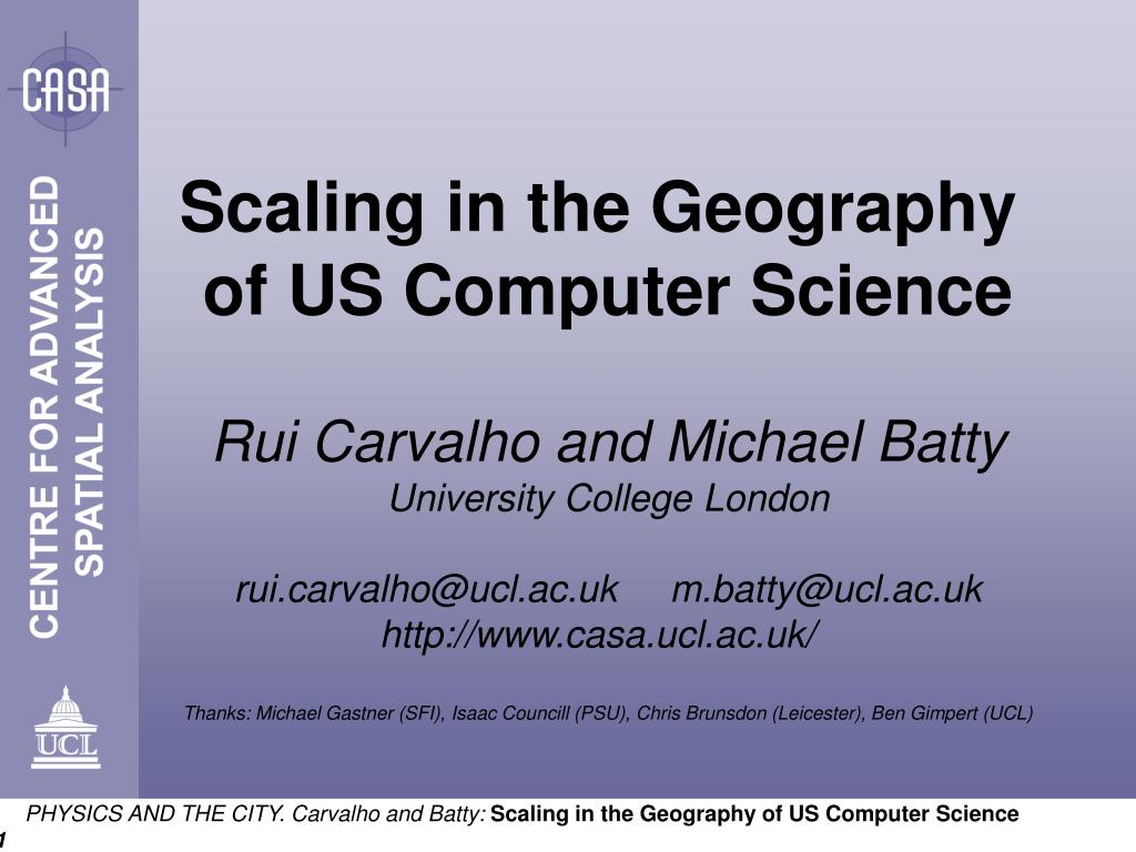 Scaling in the Geography