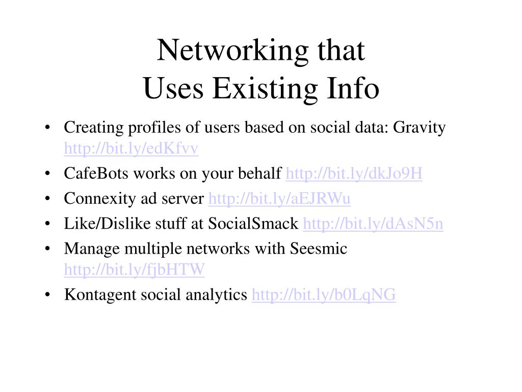 Networking that
