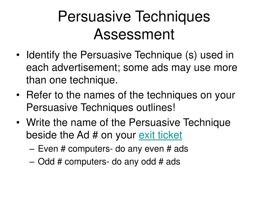 persuasive techniques in speeches powerpoint