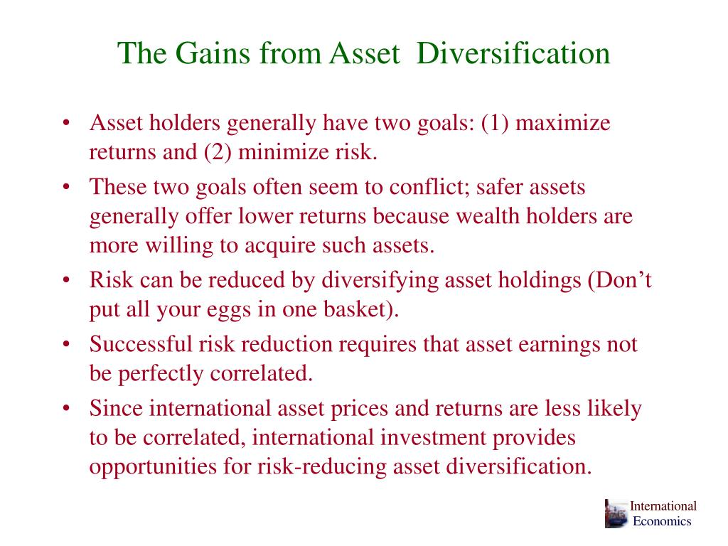 The Gains from Asset  Diversification