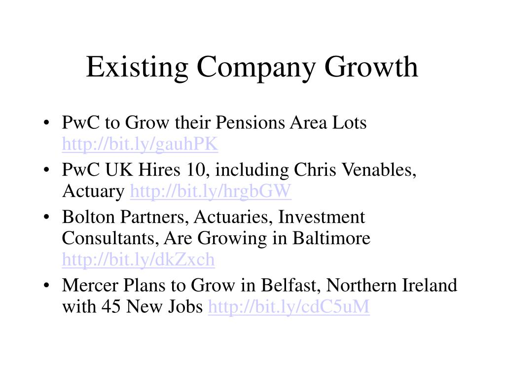Existing Company Growth