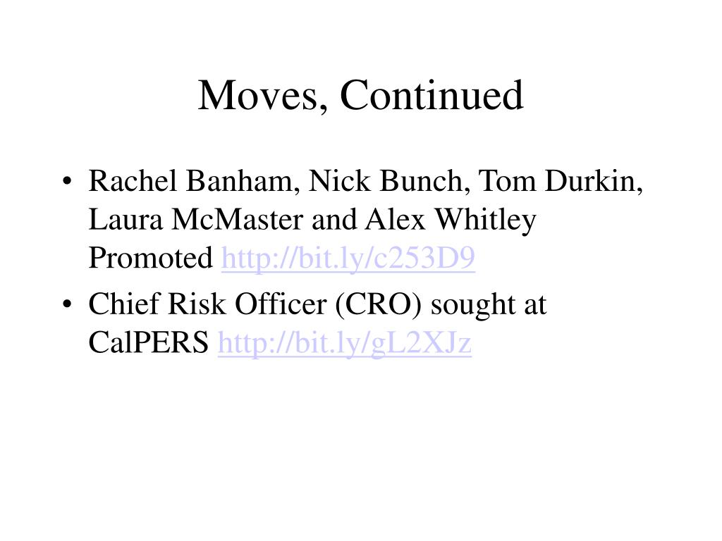 Moves, Continued