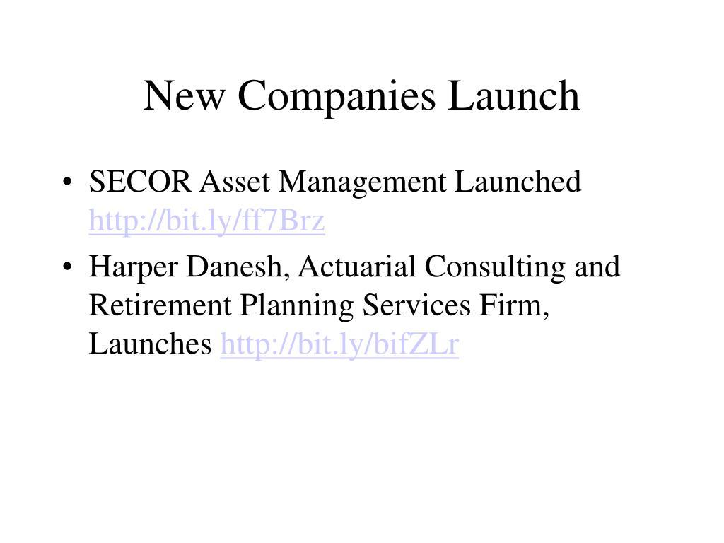 New Companies Launch