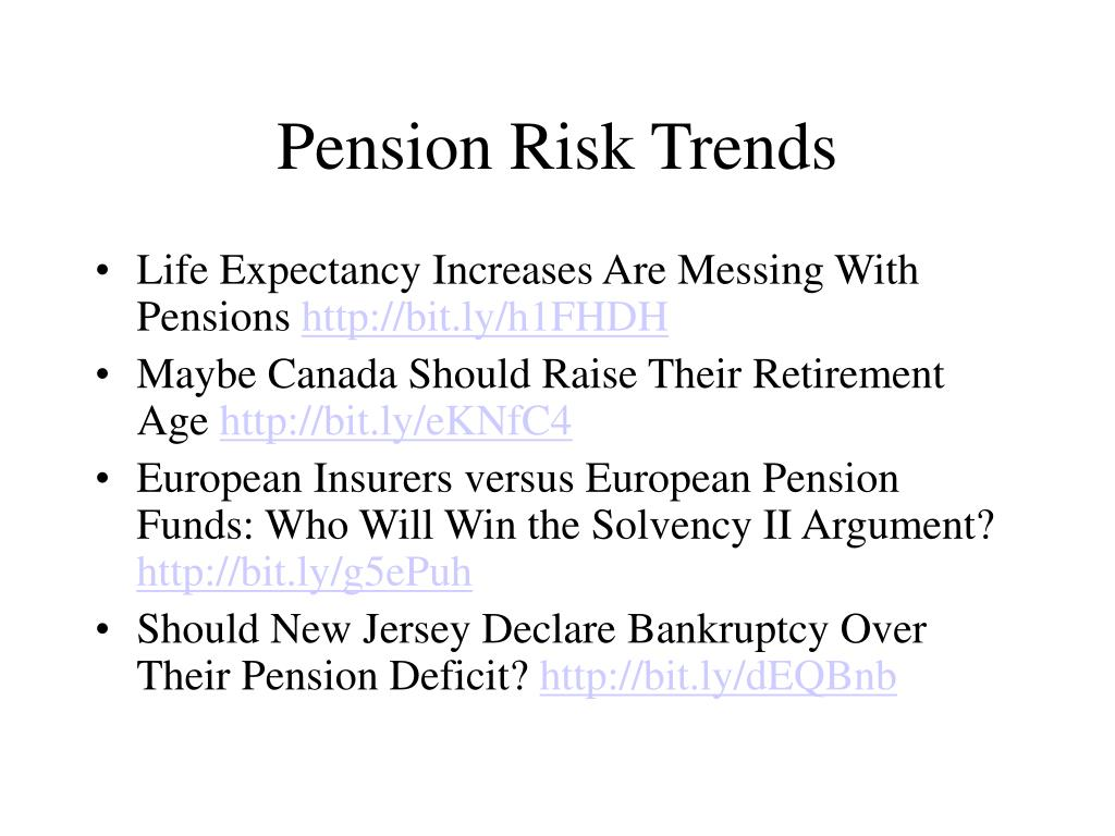 Pension Risk Trends