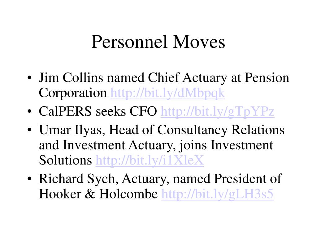 Personnel Moves