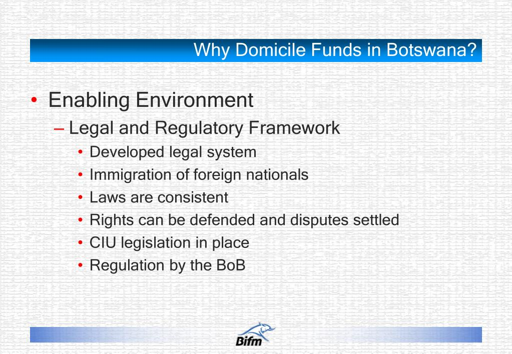 Why Domicile Funds in Botswana?