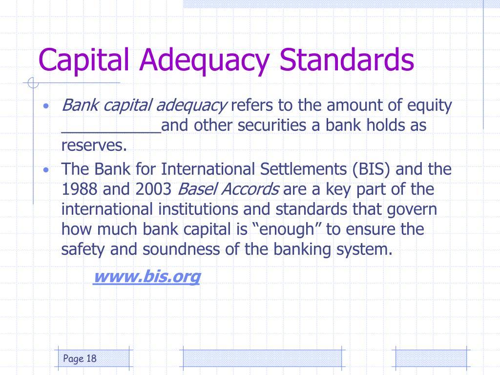 Capital Adequacy Standards