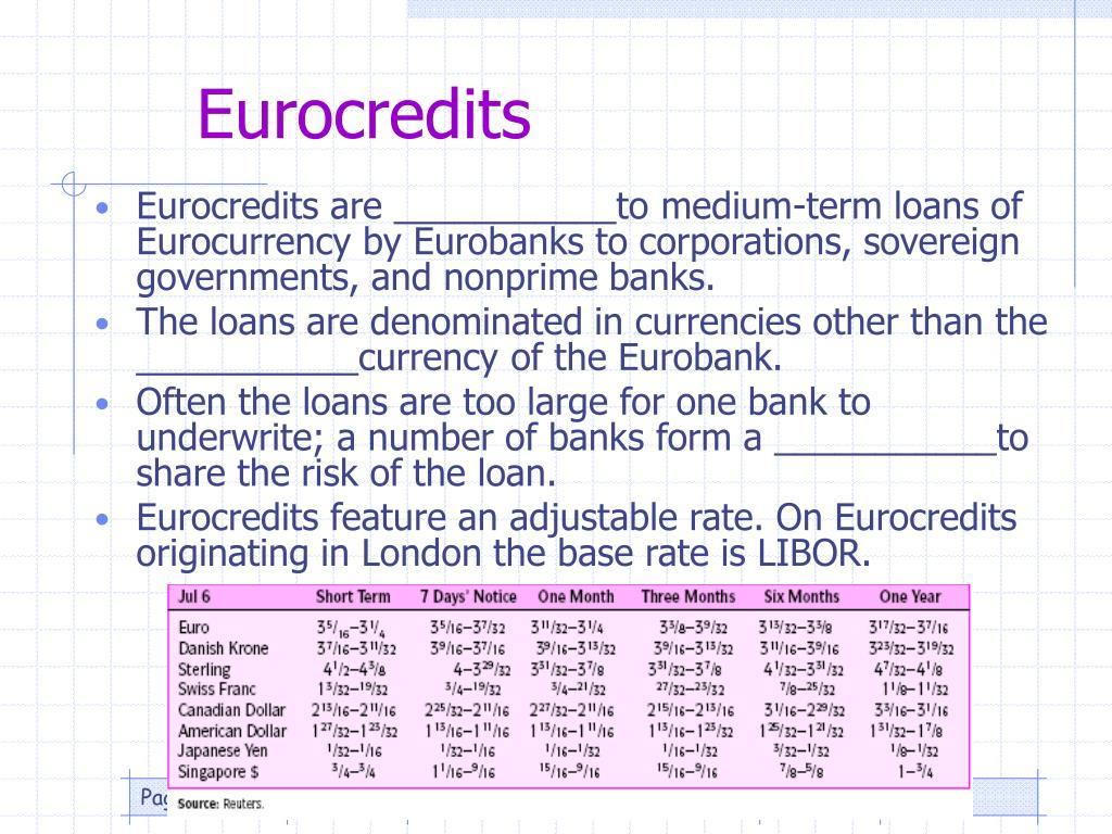 Eurocredits