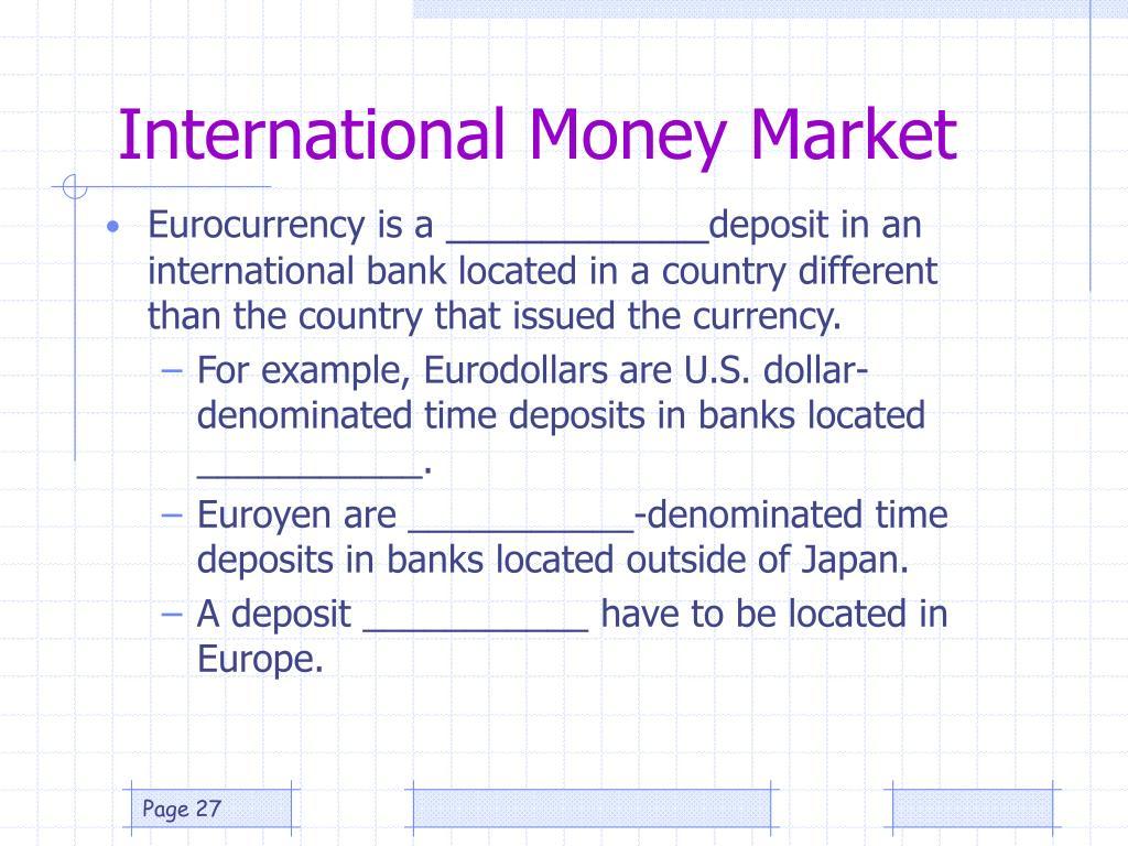International Money Market
