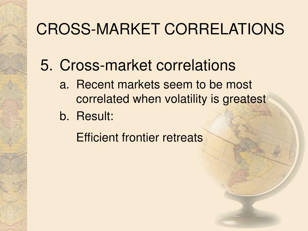 CROSS-MARKET CORRELATIONS