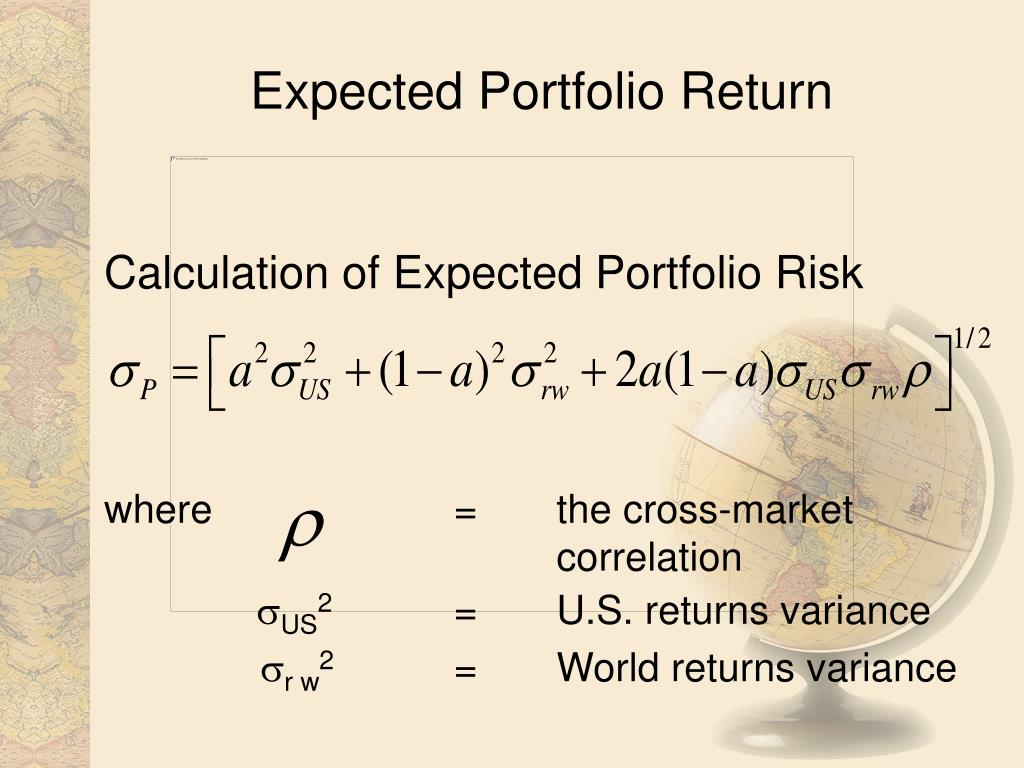 Expected Portfolio Return