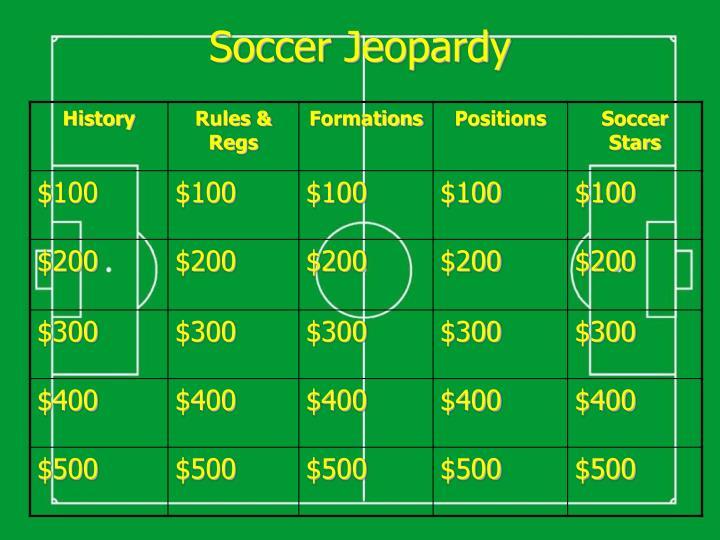 Soccer Jeopardy