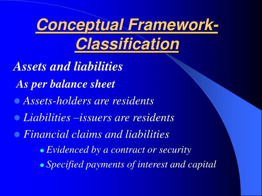 Conceptual Framework-Classification