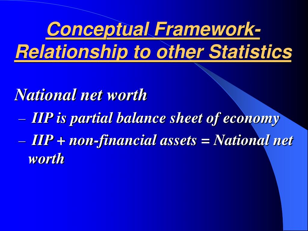 Conceptual Framework-Relationship to other Statistics